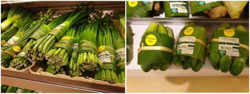 Emballage écologique en feuille de bananier pour denrées alimentaires