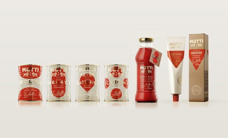 Packaging de la marque Mutti meilleure création dans la catégorie alimentation pentawards
