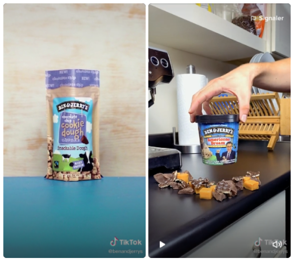 Tiktok Food Ben & Jerry's